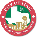 The city of Italy - Texas - Logo